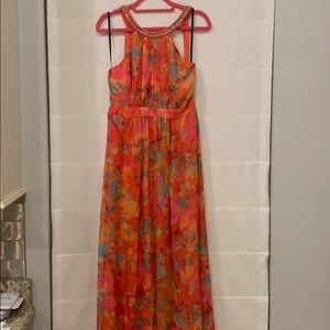 Formal floral maxi dress-Laundry by Shelli Segal
